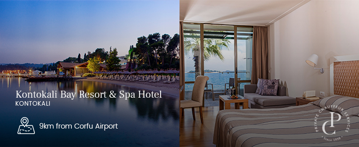 Corfu VIP transfers to Kontokali Bay Hotel